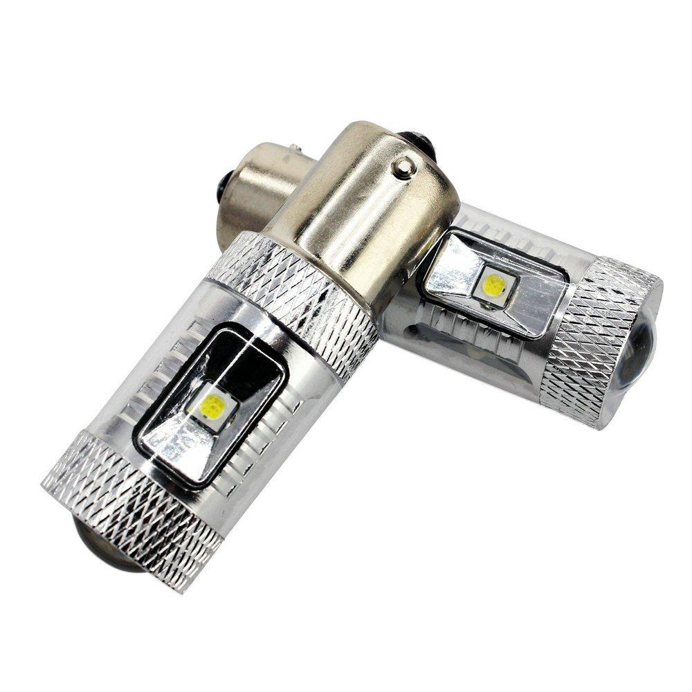 YOOSEN 12V-24V 1156 P21W Ba15s 7506 White LED High Power Bulbs (Pack of 2) Xianghong Electronic Technology Co. Ltd.