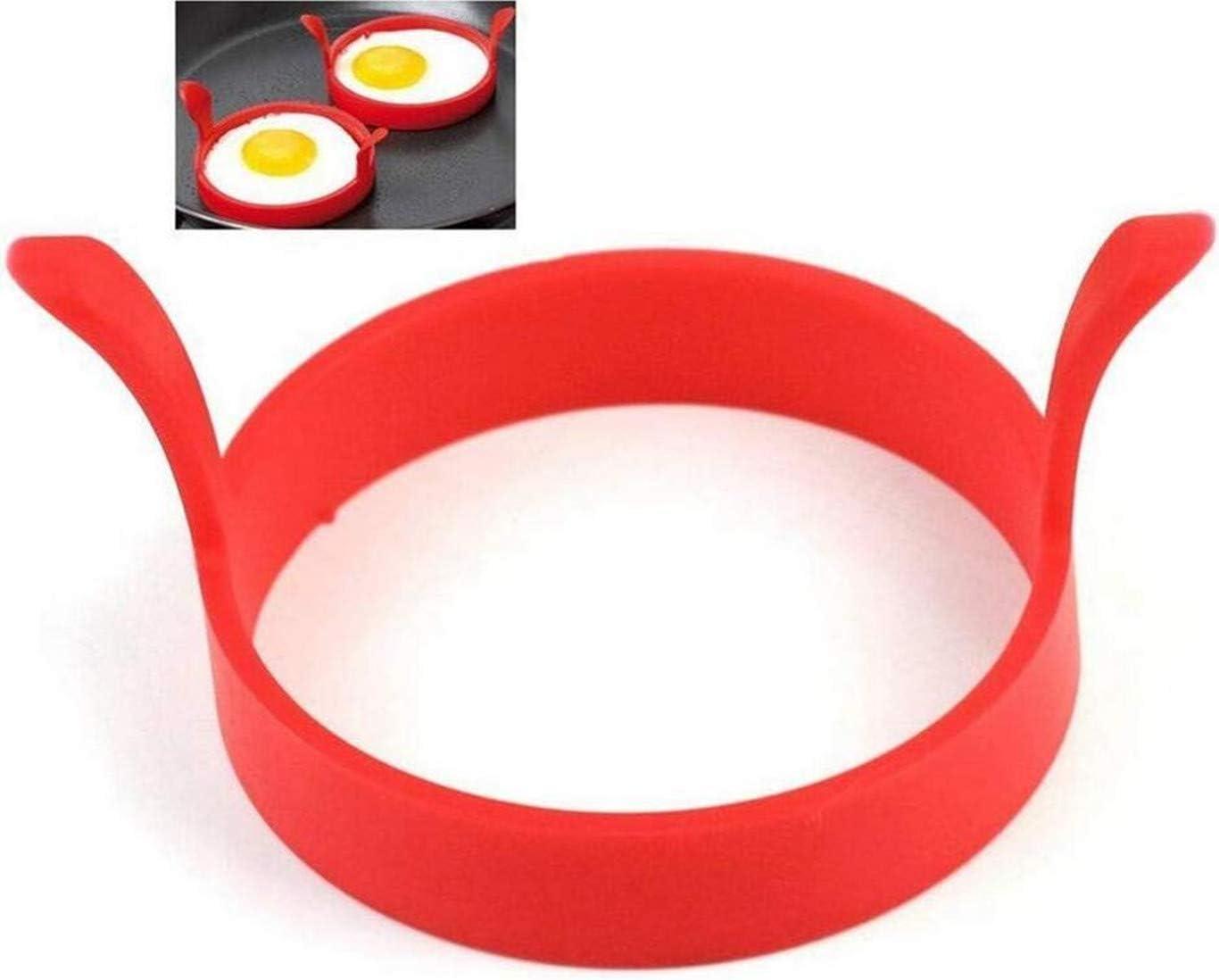 4 Piezas Silicona Huevo Anillos Antiadherente Molde De Huevo Frito Molde De Panqueques Anillos De Cocci/ón De Huevo Cazador de Huevos Color Rondam por SamGreatWorld