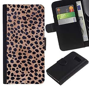 Texture Cheetah Leopard Colorida Impresión Funda Cuero Monedero Caja Bolsa Cubierta Caja Piel Id Credit Card Slots Para Samsung Galaxy S6 SM-G920