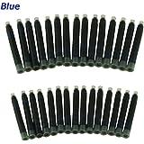 Jinhao Fountain Pen Ink Refill Cartridges International Standard Size , 30 PCS , Blue Color