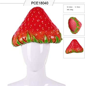 MOCRIS Disfraz de Cosplay de Fiesta Simulación de PVC Sombrero de ...