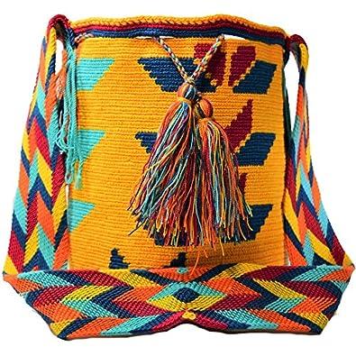 Authentic WAYUU Large Mochila Bag 100% Colombian Boho Hobo Finest