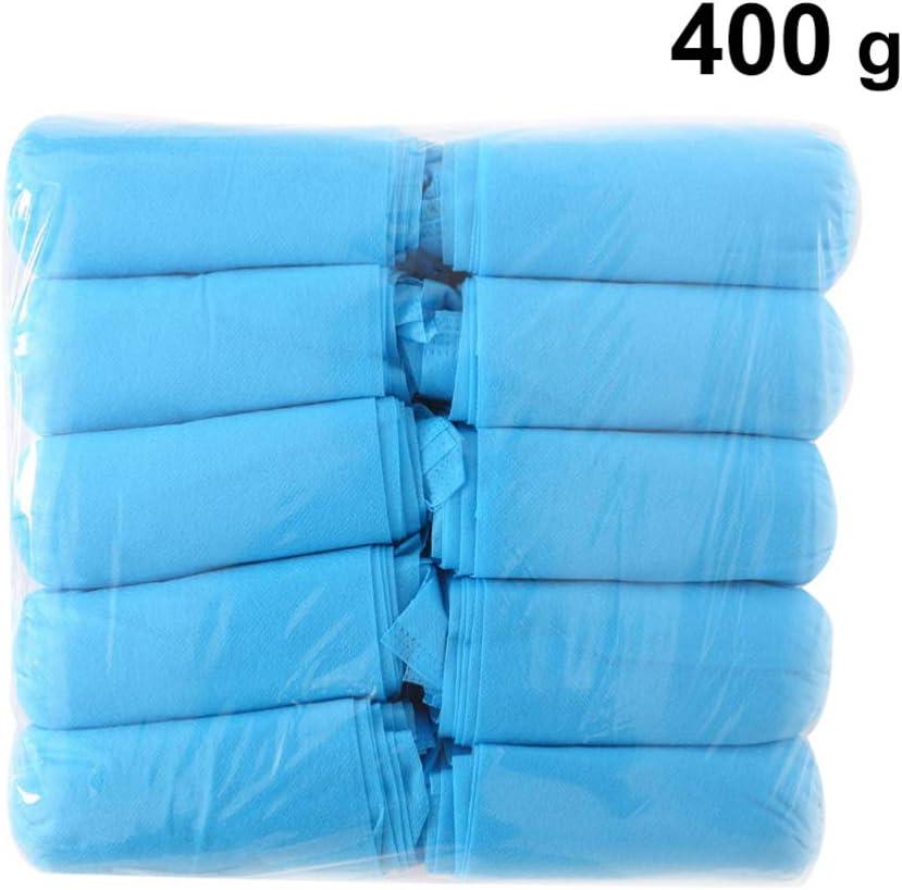Beaupretty Copriscarpe Monouso Confezione da 100 G 300 Scarpette Impermeabili Antiscivolo Copriscarpe in Tessuto Non Tessuto Azzurro
