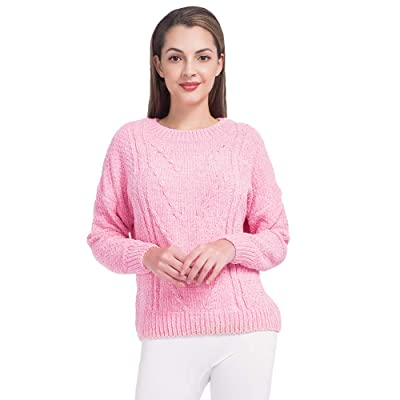 MANCYFIT Sweaters for Women Chenille Pullover Knitwear Long Sleeves Tops Winter S-XXL at Women's Clothing store