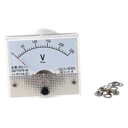 Voltmeter Sodial R 85l1 Ac 0 250v Rechteck Analog Voltmeter Panel Messgeraet Gewerbe Industrie Wissenschaft