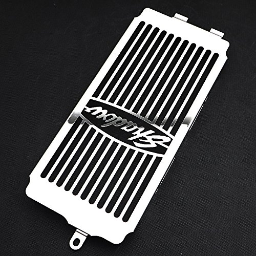 Motorparty Radiator Grill Cover Water Tank Grille Guard Protector For Honda Shadow VT750 ACE 1997-2003 VT 750 Spirit 2001-2008 2007 2006 2005 2004 2003 2002 1999 1998,Stainless Steel,Shadow Pattern by Motorparty (Image #2)