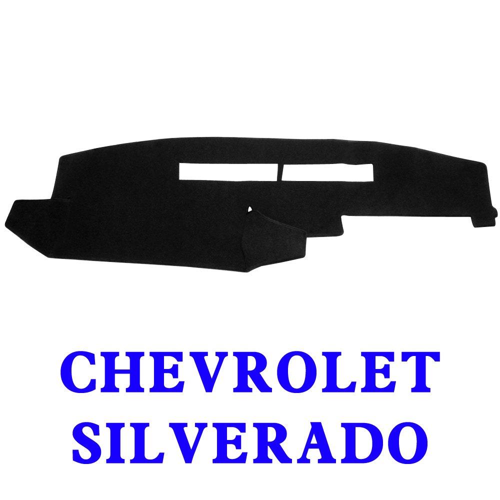Silverado 99-06, Black MR-044 JIAKANUO Auto Car Dashboard Dash Board Cover Mat Fit Chevy Chevrolet Silverado 1999-2006