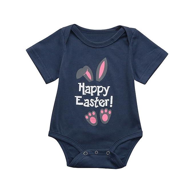Logobeing Bebe Mono Ropa Bebe Recien Nacido Peleles Bebe Niña Niño Verano de Conejo de Pascua