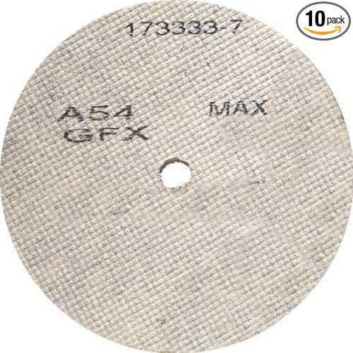 10-Pack United Abrasives-SAIT 29312 3 by 1//8 by 3//8 A54GFX CF Cotton Fiber Deburring Wheel