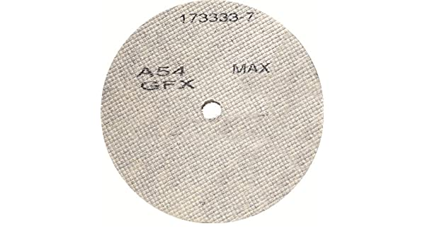 10-Pack United Abrasives-SAIT 29312 3 by 1//8 by 3//8 A54GFX CF Cotton Fiber Deburring Wheel