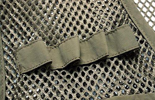 De GHGJU La Malla De Chaleco Táctico Ocasional Rápido Secado De Pesca Fotografía Hombres Los Multi Bolsillo Green Chaleco wwrd67q