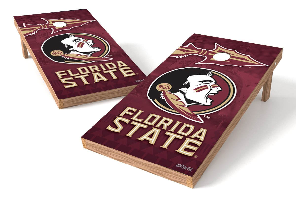 Wild Sports NCAA College Florida State Seminoles 2' x 4' Authentic Cornhole Game Set