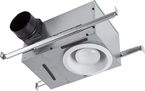 Broan-NuTone 744L Recessed Bathroom Ventilation Light, 50 or 80 CFM Bath Fan, White