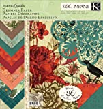 K&Company Engraved Garden 12-by-12-Inch Designer Paper Pad