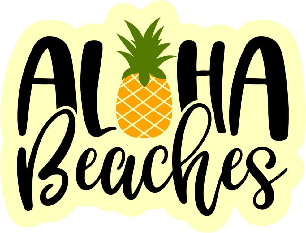 MKS1308 Car Truck Van SUV Window Wall Cup Laptop One 5.5 Inch Decal More Shiz Aloha Beaches Pineapple Vinyl Decal Sticker