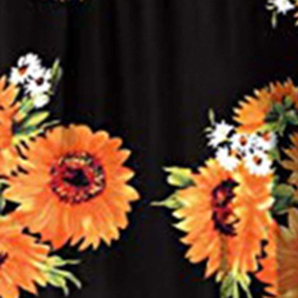 AIEson Bohemian Short Sleeve Dress Ladies O-Neck Print Dress Floor Length Vest Long Party Dress Belt Pocket