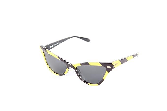 Moschino MO-302S-03 Gafas de sol, Black/Yellow, 53 para ...
