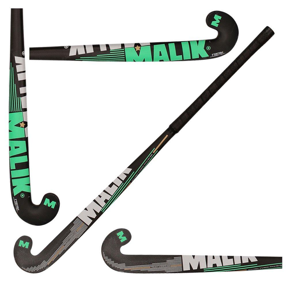 Malik フィールドホッケースティック コンポジット アウトドア フレッシュ 50パーセントカーボン 黒, 緑, グレー 36.5 Inches Length
