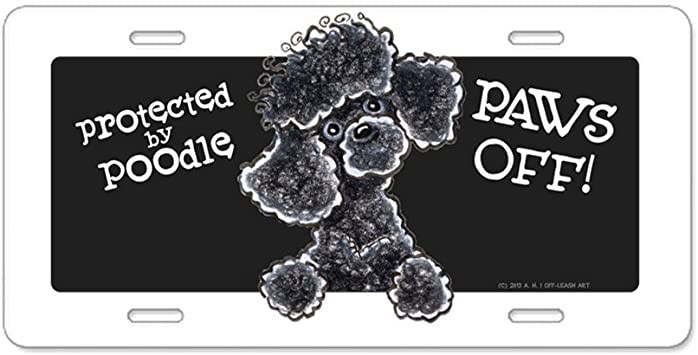 Poodle Dog Breed Novelty Metal Vanity Tag License Plate
