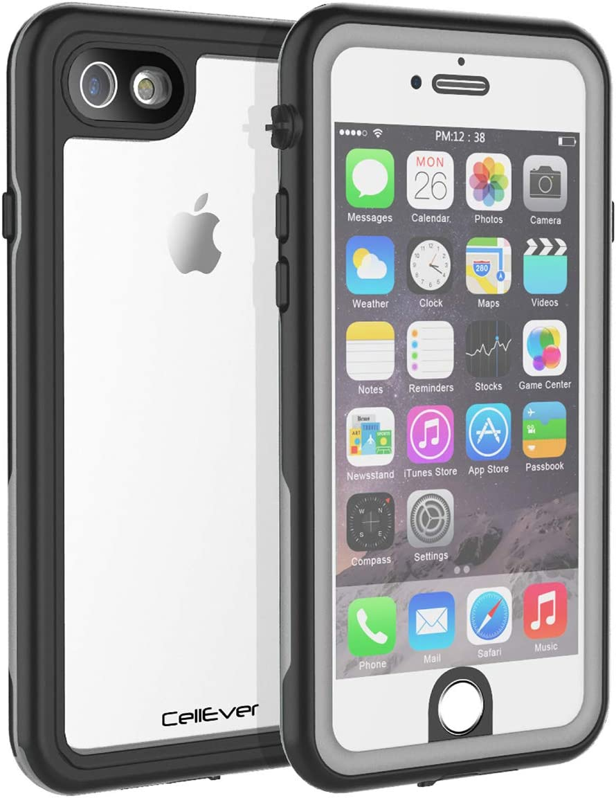 CellEver iPhone 6 / 6s Waterproof Case Shockproof IP68 Certified SandProof Snowproof Full Body Protective Clear Transparent Cover Fits Apple iPhone 6 and iPhone 6s (4.7 Inch) KZ Gray