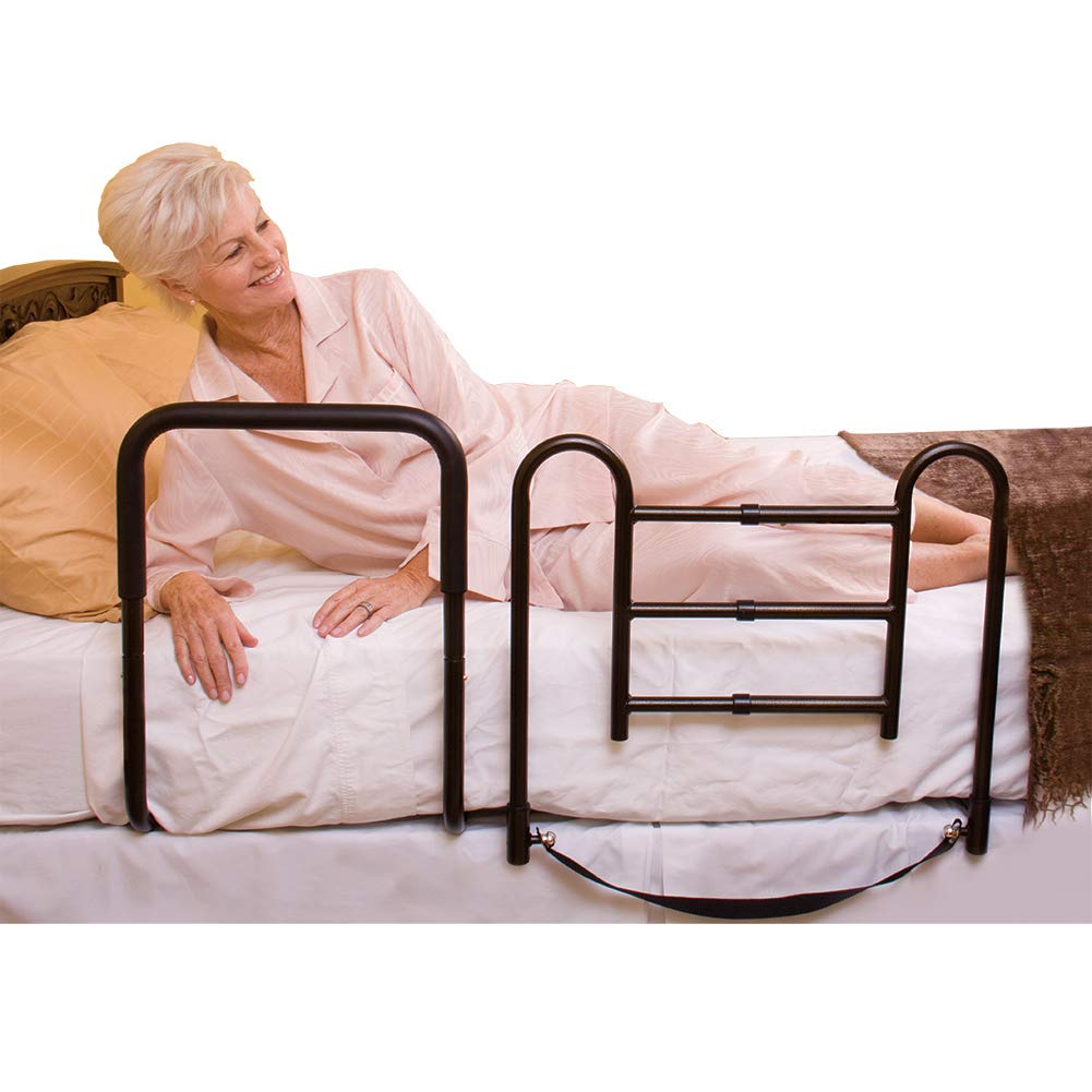 Carex Easy-Up Bed Rails for Elderly - Adult Bed Hand Rails - Bed Safety Rails for Seniors by Carex Health Brands