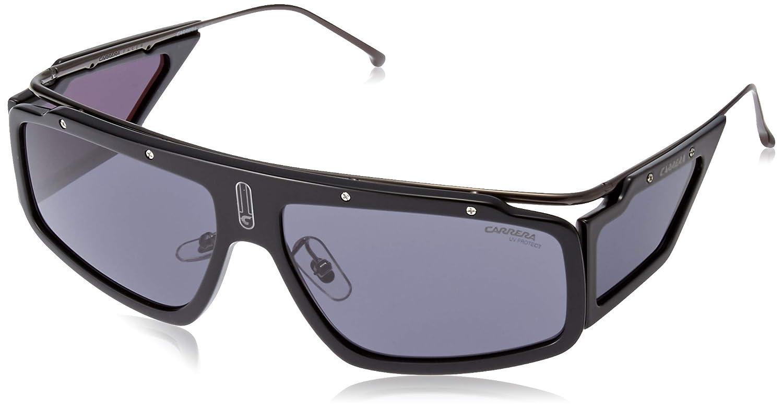 Amazon.com: Gafas de sol Carrera Facer 0807 negro / 2K gris ...