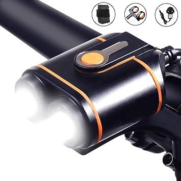 Wasafire Luces Bicicleta USB, 1200 lúmenes Linterna Impermeable ...