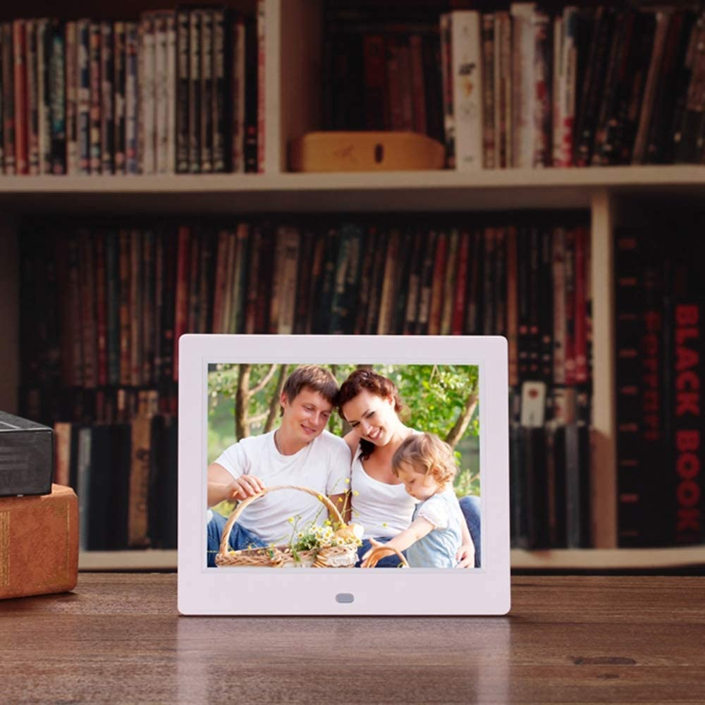 8 Inch 1024/×768 HD Picture Video 1080P LoMe Digital Photo Frames Supports Multiple File Formats and External USB SD Memory,Black MP3 Music Electronic Photo Frame