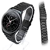 Dokpav® Cinturino Cintura Orologio Maglia Acciaio Inossidabile Stainless Steel Watch Band per Samsung Gear S2 R732 Nero