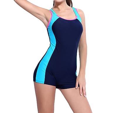 Laixing Womens Boyleg Swimwear Swimsuit Ladies Swimming Costume