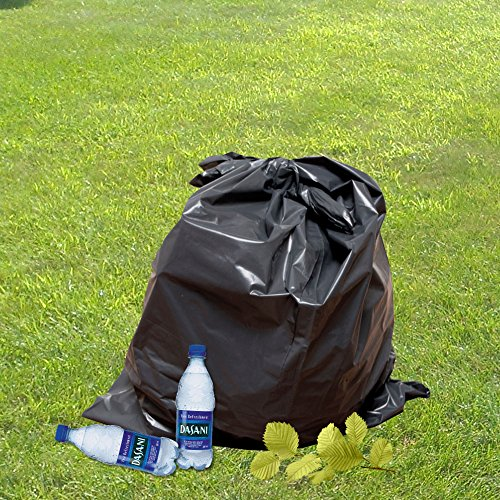 60 Gallon Extra Large Contractor Trash Bags 3 Mil, Durable Heavy Duty, Made in USA, Tough Garbage Bags for Cleanups Drum Liner 3mil (25)-41x55 by Ox Plastics (Image #3)