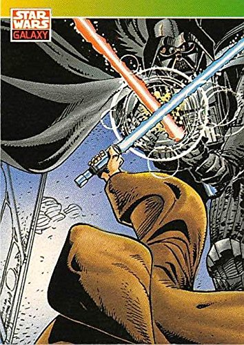 Darth Vader trading card Star Wars Galaxy 1993 Topps #124 Sith Lord Light Saber ()