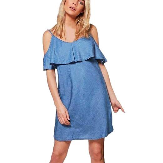 faldas mujer desigual, Sannysis Vestidos con volantes, Vestidos de ...