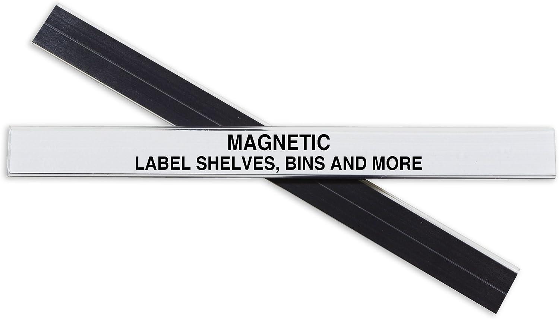 C-Line HOL-DEX Magnetic Shelf/Bin Label Holders, 1/2 Inch x 6 Inches, 10 per Box (87207)