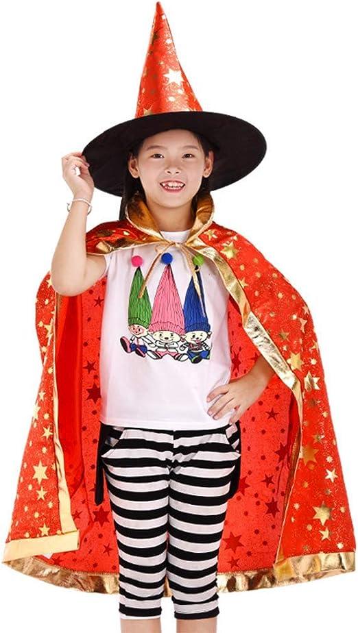 Sombrero de Brujo de Halloween,Infantil Capa de Halloween con ...