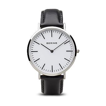 BERING Reloj Analógico para Hombre de Cuarzo con Correa en Cuero 13738-404: Amazon.es: Relojes