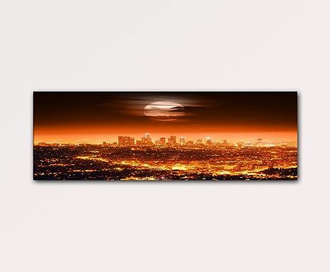 Luna sopra Los Angeles 120x40cm Quadri moderni su tela pronti da ...