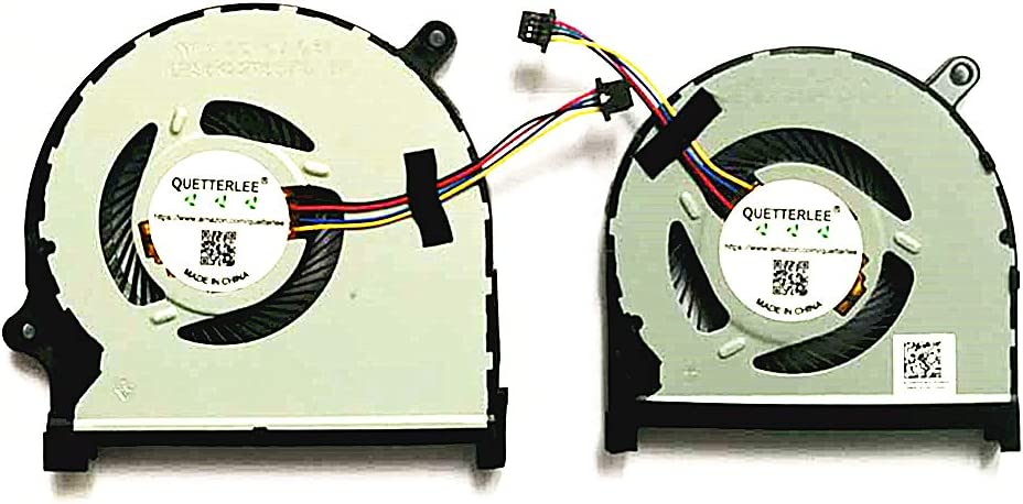 QUETTERLEE Replacement New CPU GPU Cooling Fan for Dell Inspiron 15-7590 7590 7591 P83F Series 0MPHWF 0861FC DFS5K12114262D FM6A DFS5K22115371D FM69 Fan