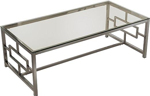 SuskaRegalos-Mesa Centro Metal/Cristal_120x60x40cm-patas:Acero ...