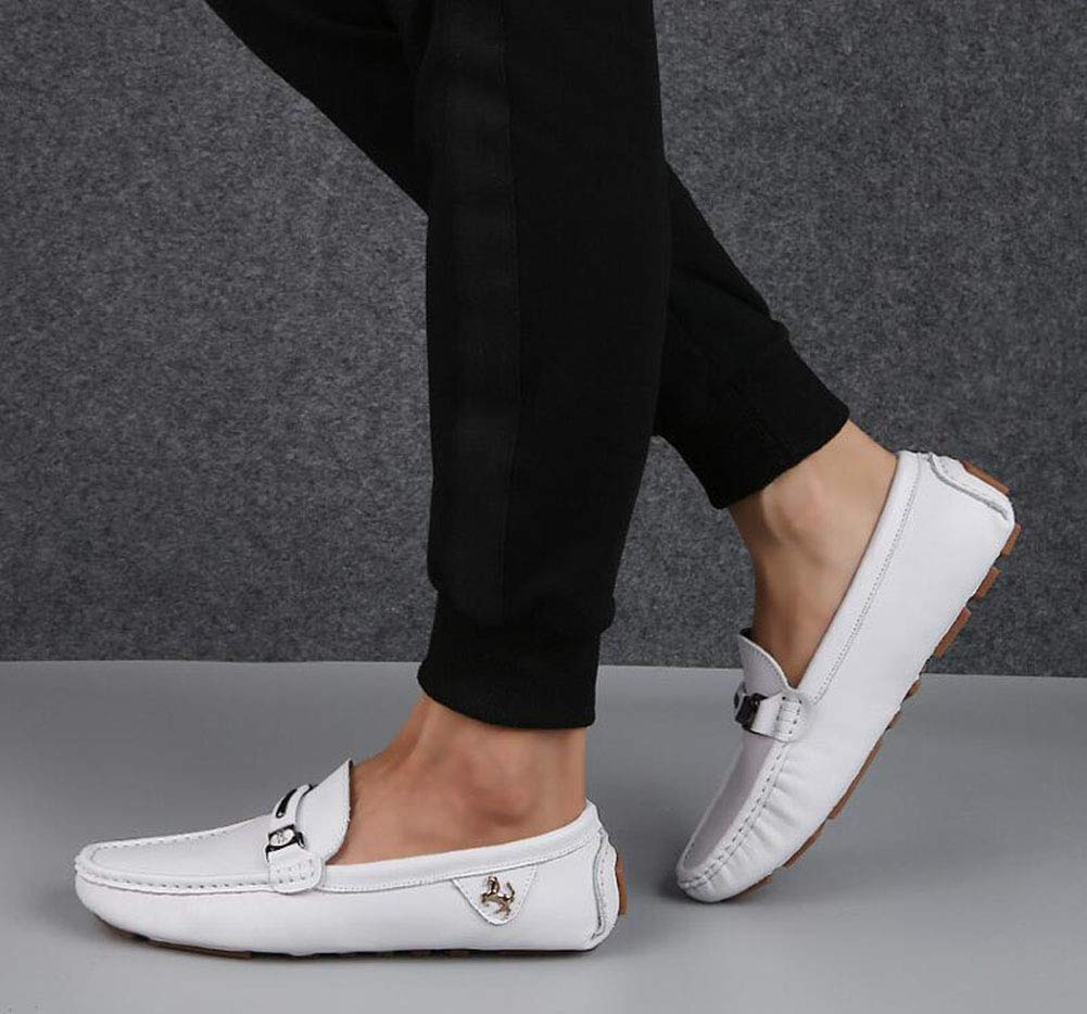 Hy Mens Casual schuhe 2019 Neue Frühlingsloafers & Office Slip-Ons Comfort Breathable Driving schuhe Trekking Travel schuhe Office & & Caree,Weiß,44 60227f
