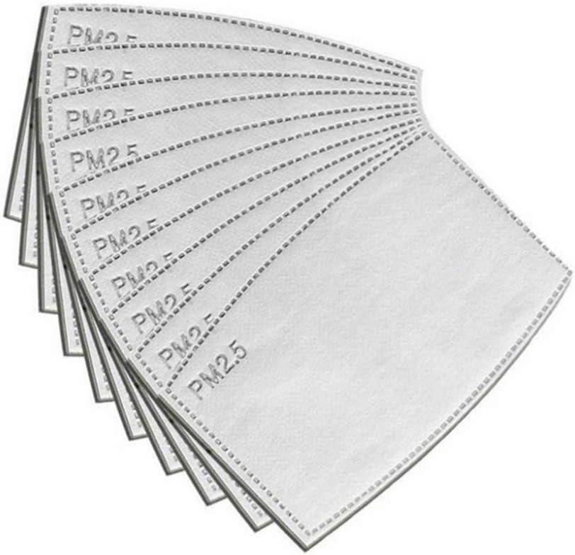 Garneck 10 Piezas Profesional Pm2. 5 Inserto de Filtro de Carbón Activado Inserto de Medios de Filtro Protector para Hombres Y Mujeres (12X8cm)