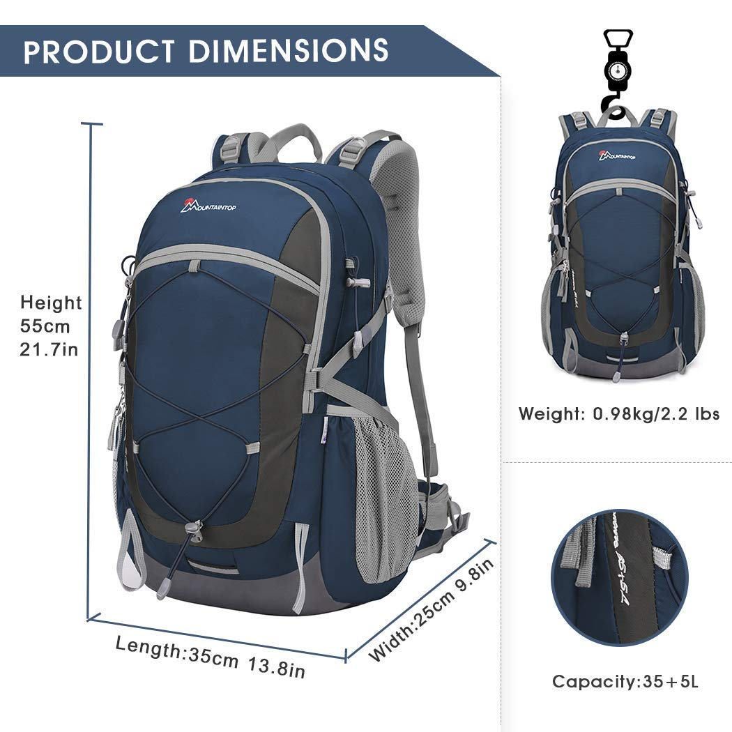 Mountaintop 40L Unisex Hiking Camping Backpack
