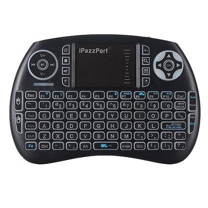 db53c6ba7e2 Amazon.com: iPazzPort Backlit Wireless Mini Keyboard USB with Touchpad for  Android TV Box, Nvidia Shield TV, Raspberry Pi 3 KP-810-21SL: Computers &  ...