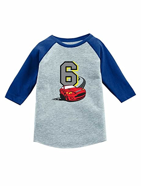 Amazon Tstars 6th Birthday 6 Year Old Race Car Party 3 4 Sleeve