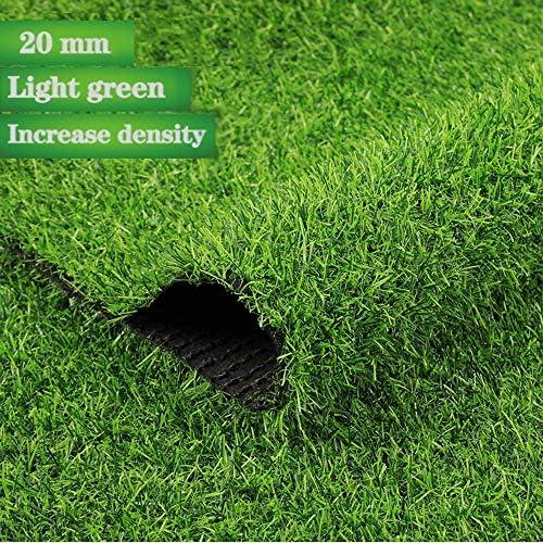 GAPING 高品質人工芝人工芝カーペット高さ20ミリメートルバルコニー屋内屋外装飾3色から選択する (Color : Light green, Size : 2x6m)