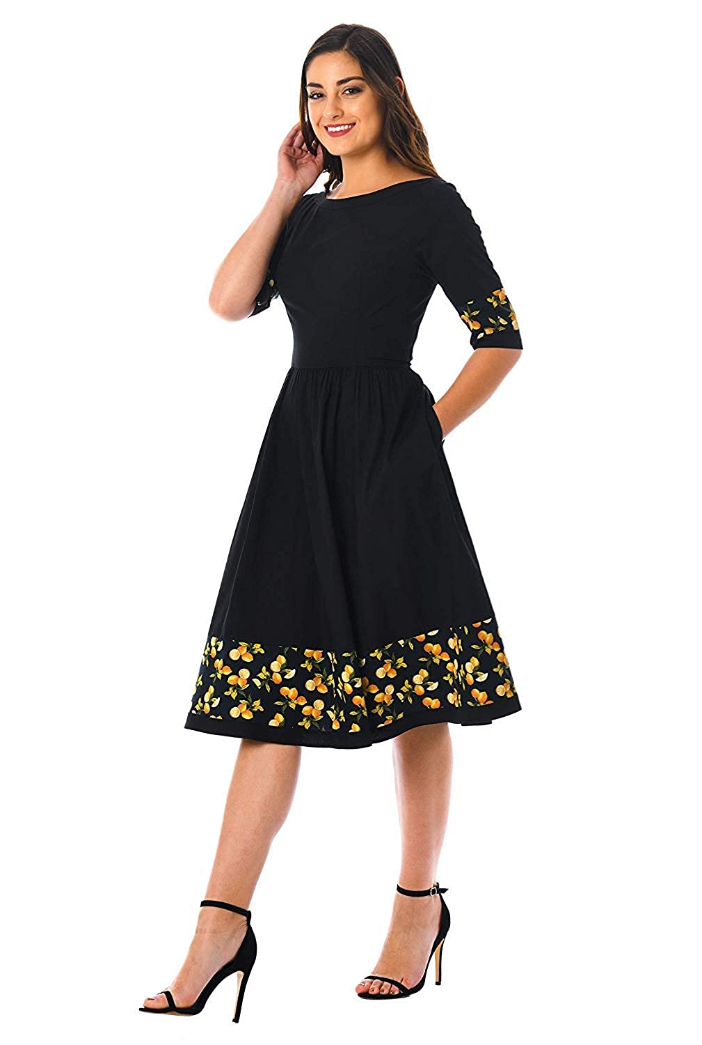 cfc4c404bb Madhav fashion Casual solid fit and flare knee length dress for women  skater dress printed one piece short  Amazon.in  Clothing   Accessories