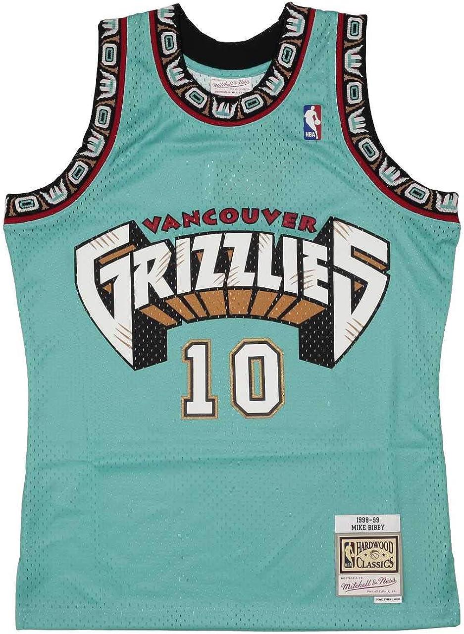 Mitchell & Ness Vancouver Grizzlies Mike Bibby 10 Teal Replica Swingman Jersey 2.0 NBA HWC Basketball Trikot