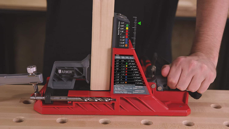 Dima para agujeros de bolsillo juego de gu/ías para cremallera 35 mm serie de agujeros herramientas de elaboraci/ón de madera taladro oculto de taza