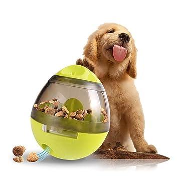 comedero perro Dispensador de comida interactiva juguetes para perros Indestructible IQ Treat Ball para entrenar perros masticando rompecabezas Tumbler: ...