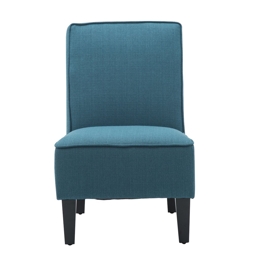 Changjie Cushioned linen Armless Settee Loveseat Sofa Couch Home Casual Living Room Sleeper (One Seat Blue) by Changjie (Image #1)